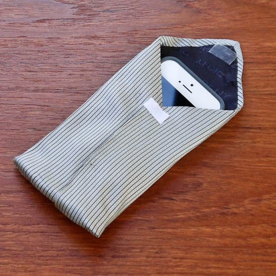 handmade gifts for him: Upcycle a Tie Into a Phone Case