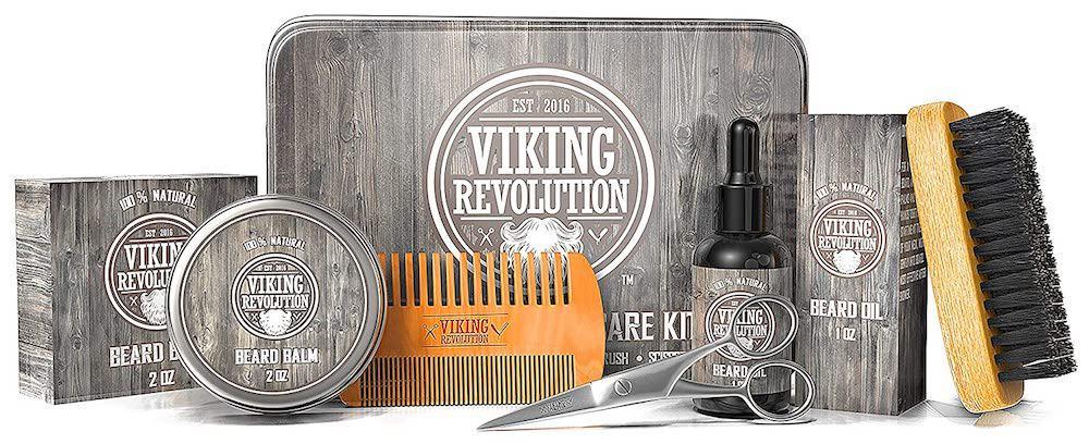 Viking Revolution Beard Care Kit for Men - Ultimate Beard Grooming Kit