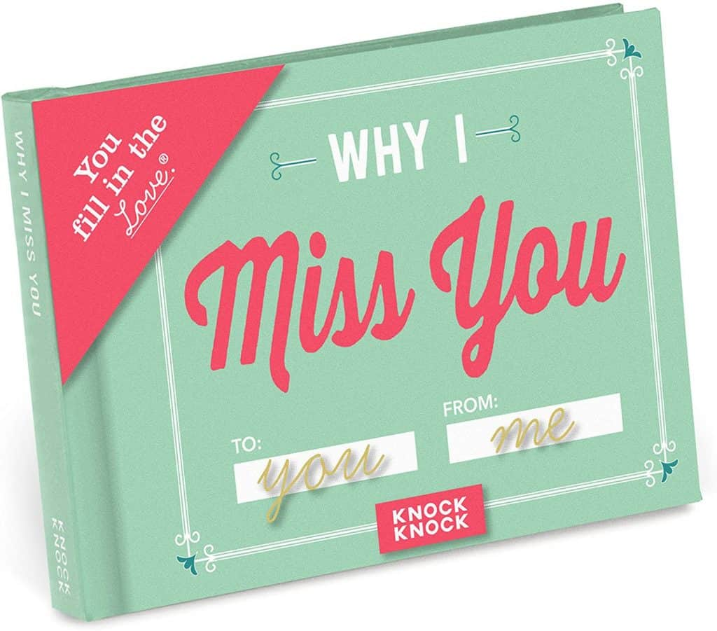 romantic ideas long distance relationship: Why I Miss You Love Book