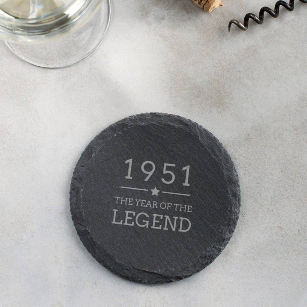 Year of The Legend Engraved Slate Coaster