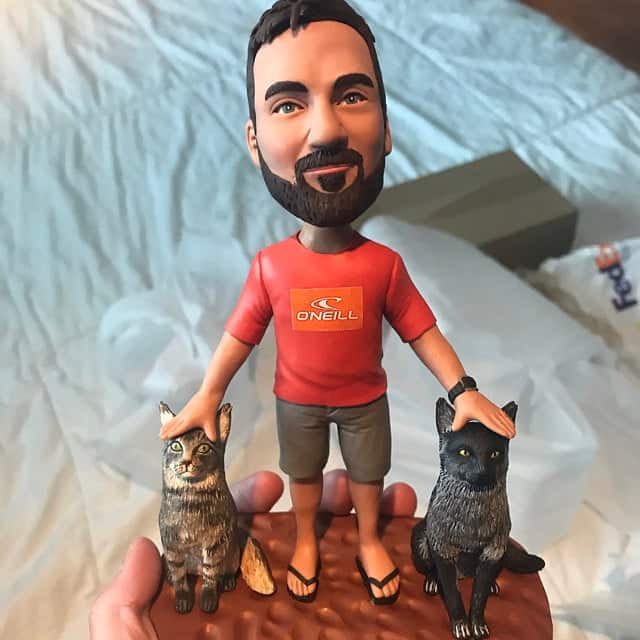 a custom bobblehead - a funny and creative brother gift