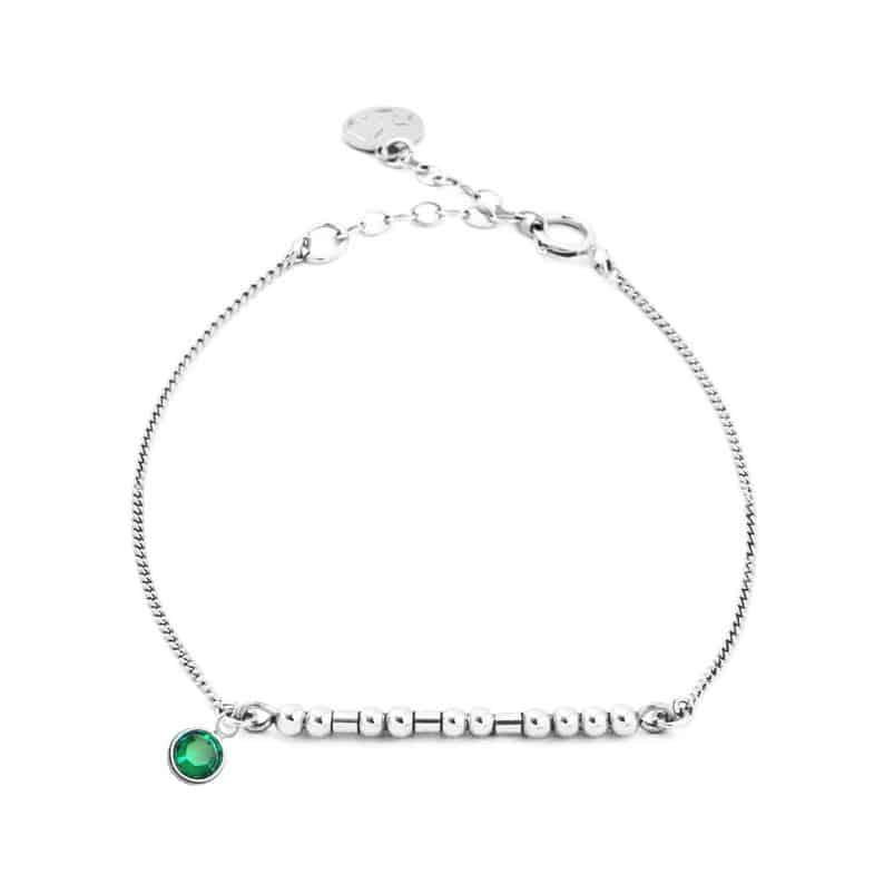 awesome gifts for women: custom morse code bracelet