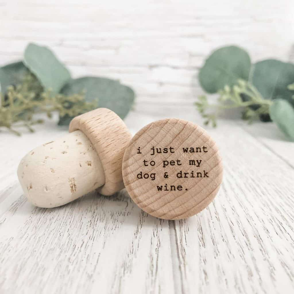 gifts for wine lovers: custom wine stoppers