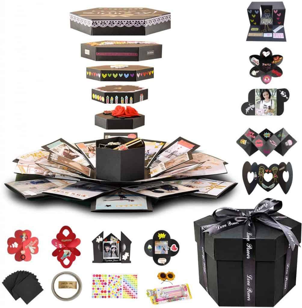 valentine gifts for long distance boyfriend: explosion box