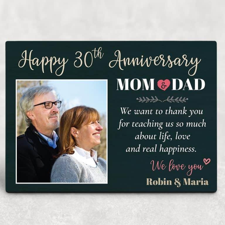 Happy 30th Anniversary Mom and Dad Desktop Plaque