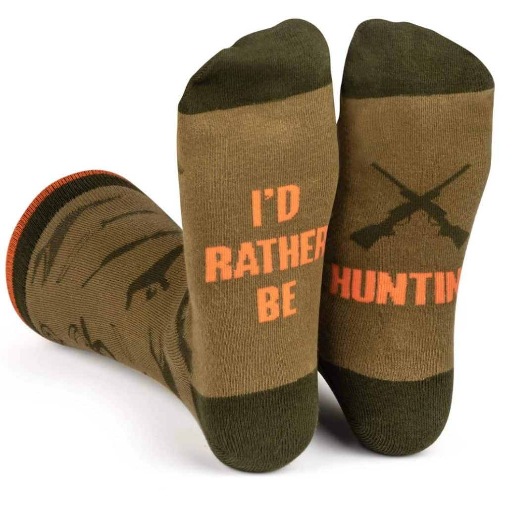 best gifts for hunters: i'd rather be hunting socks