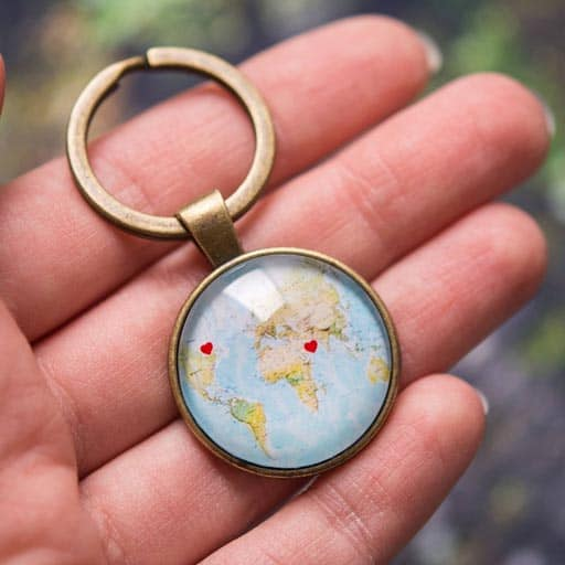 Map Keychain - going away gift