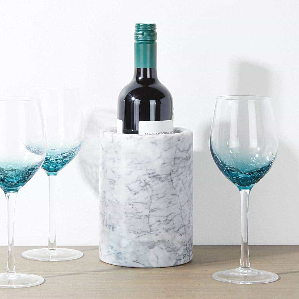 gifts for wine drinkers: marble stone wine cooler
