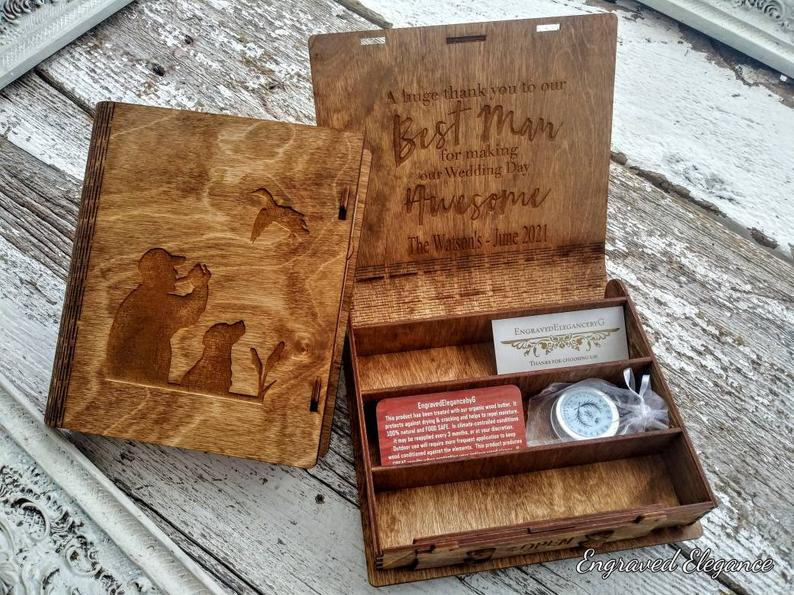 duck hunting gift: personalized duck call box
