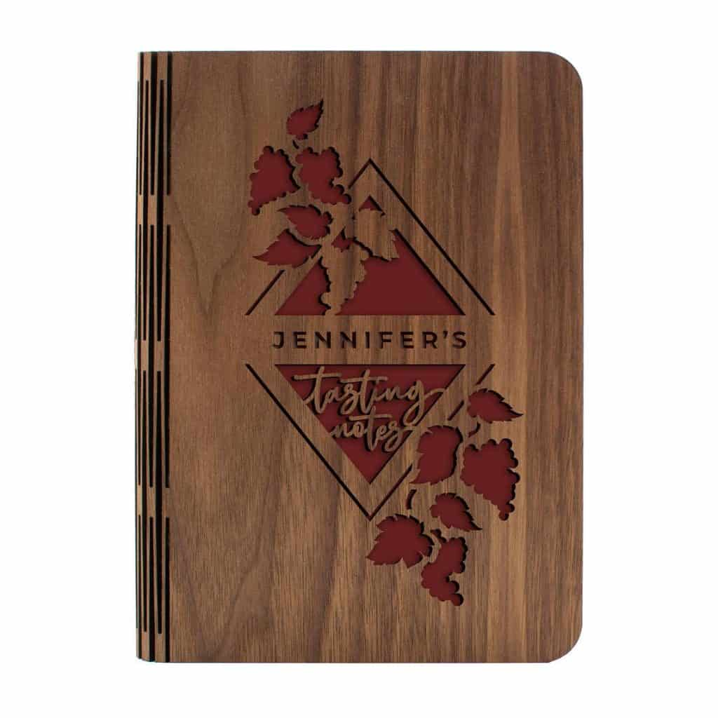 unique gifts for wine lovers: personalized wine tasting journal