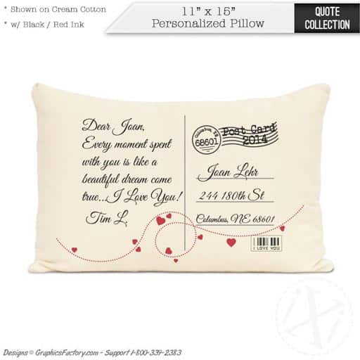 Postcard Pillows - moving gift