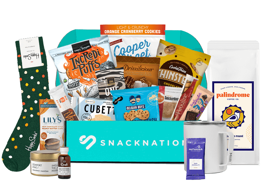 gifts for foodies: snacknation box