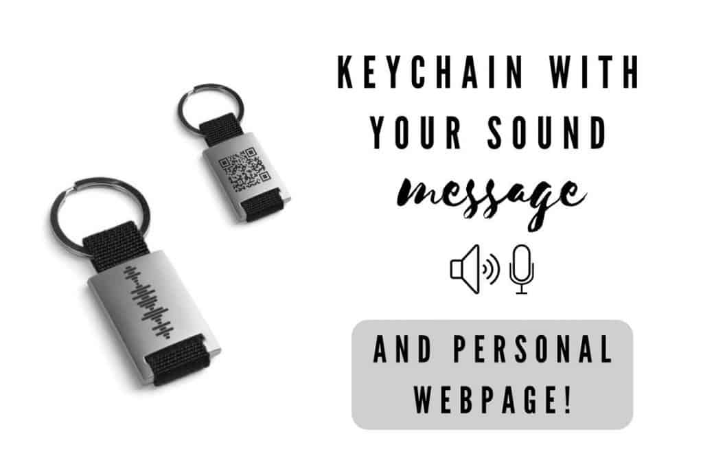 long distance valentines day gifts: soundwave key chain