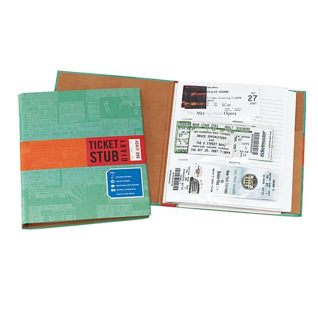 valentine gifts for long distance boyfriend: ticket stub diary