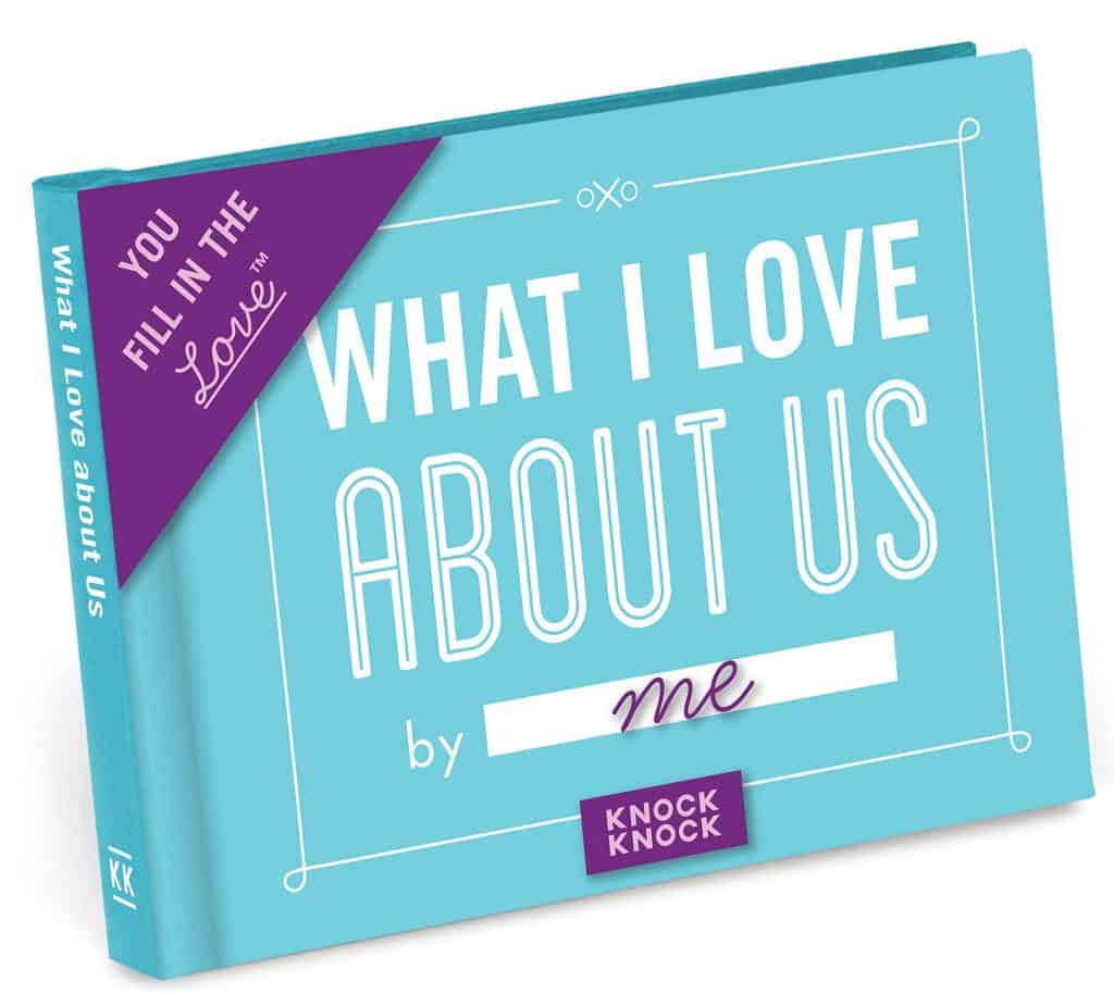 valentine's day gifts for long distance boyfriend: what i love about us fill in the blank journal