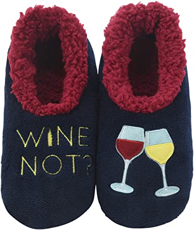 "gift for wine lover: 'wine not"" slippers"