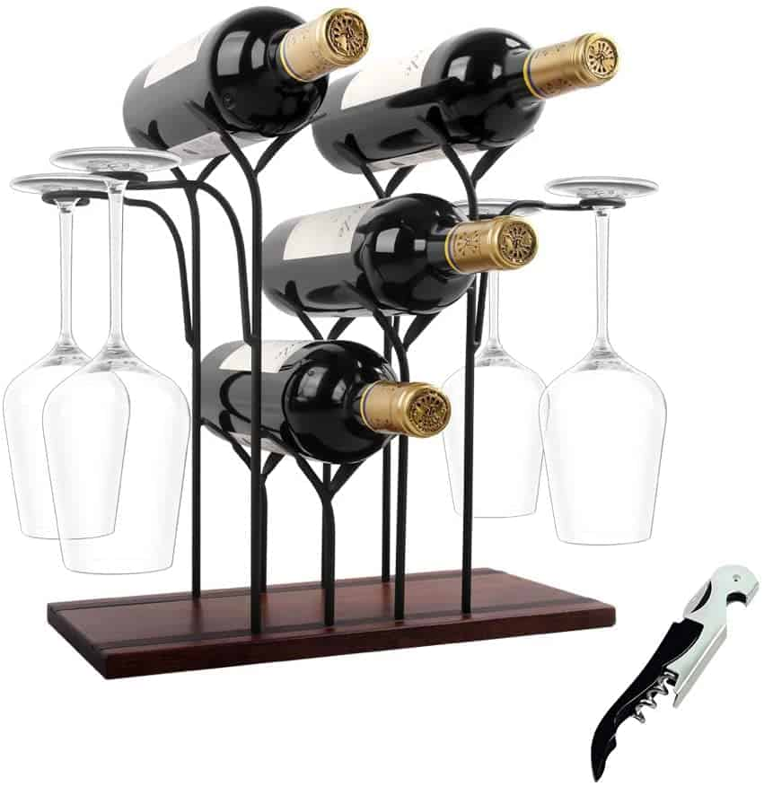 wine gift ideas: wine rack countertop