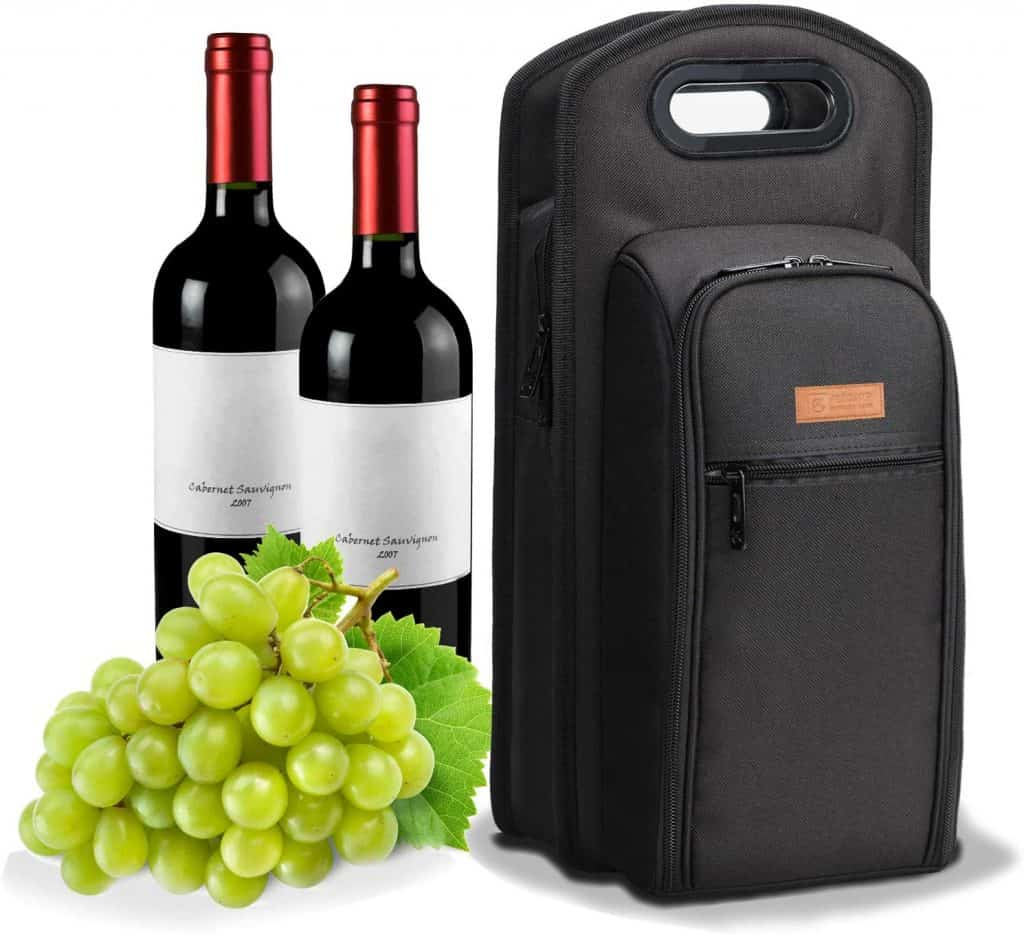 gift for wine enthusiasts: wine travel bag