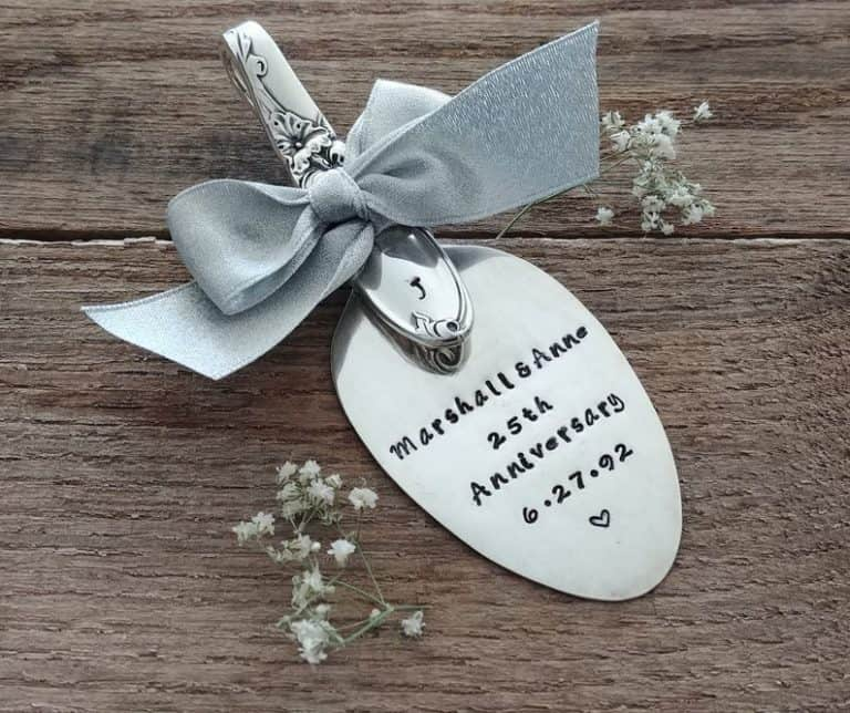 spoon ornament - 25th wedding anniversary gifts