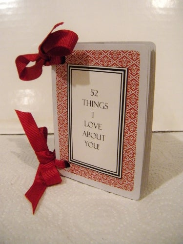homemade valentines day ideas for him: 52 things i love about you cards