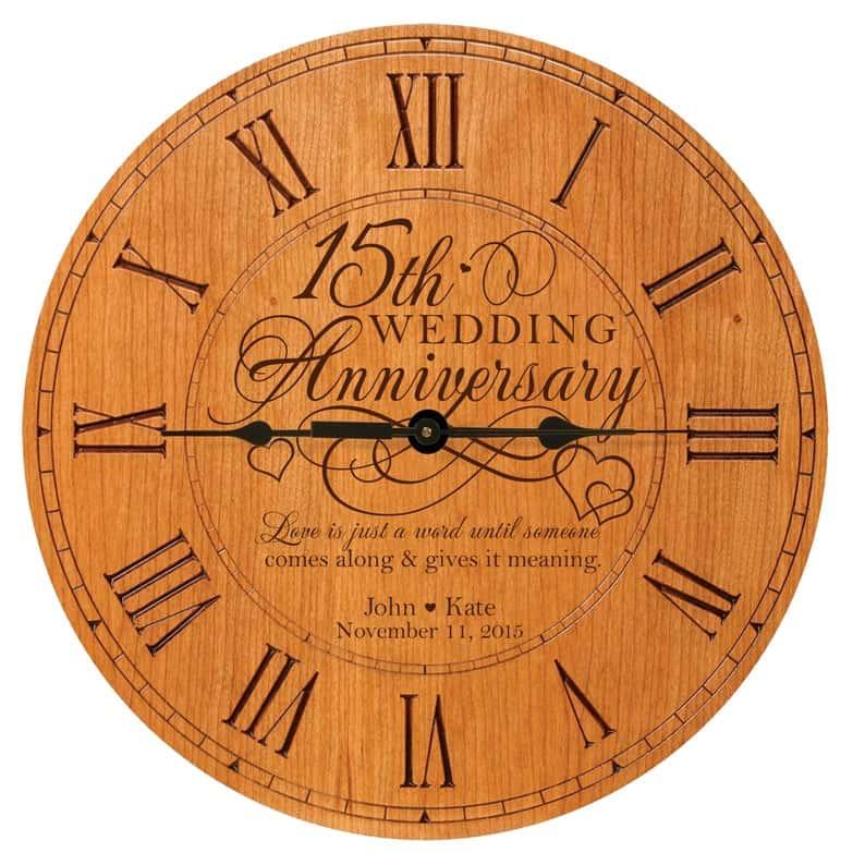 Personalized Anniversary Clock