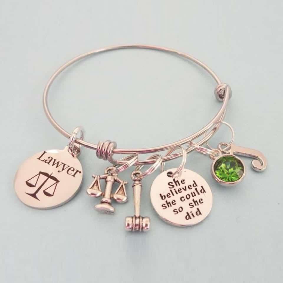 Attorney Graduate Charm Bracelet - school graduation gift ideas for sister