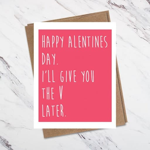 Funny Valentine Card - inexpensive valentine gift for him