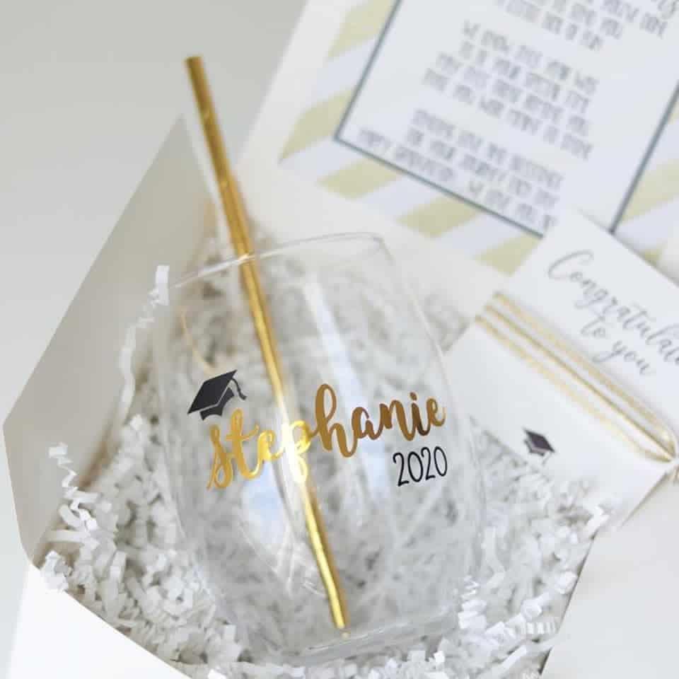 Graduation Wine Glass - ideas for graduation gift