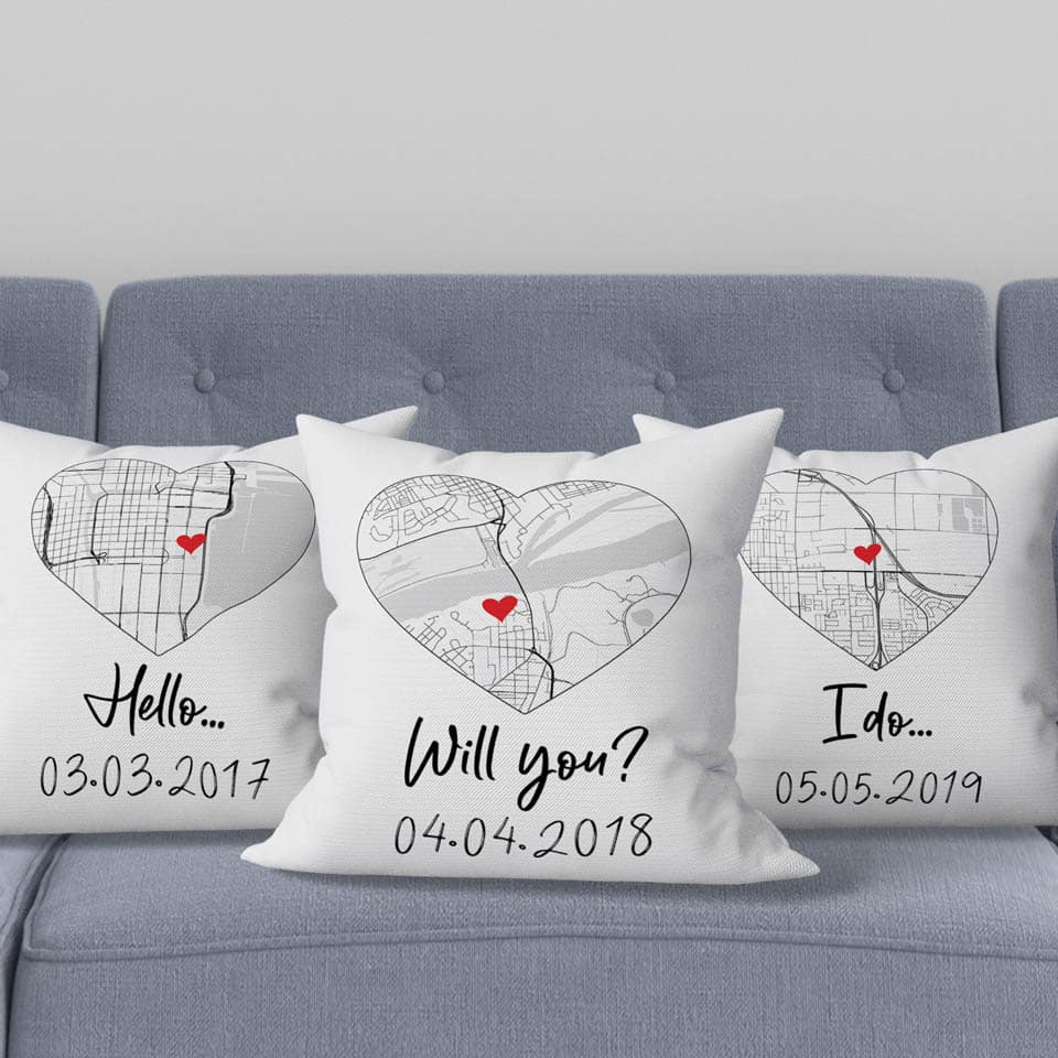 Hello Will You I Do Pillow: romantic gifts for him