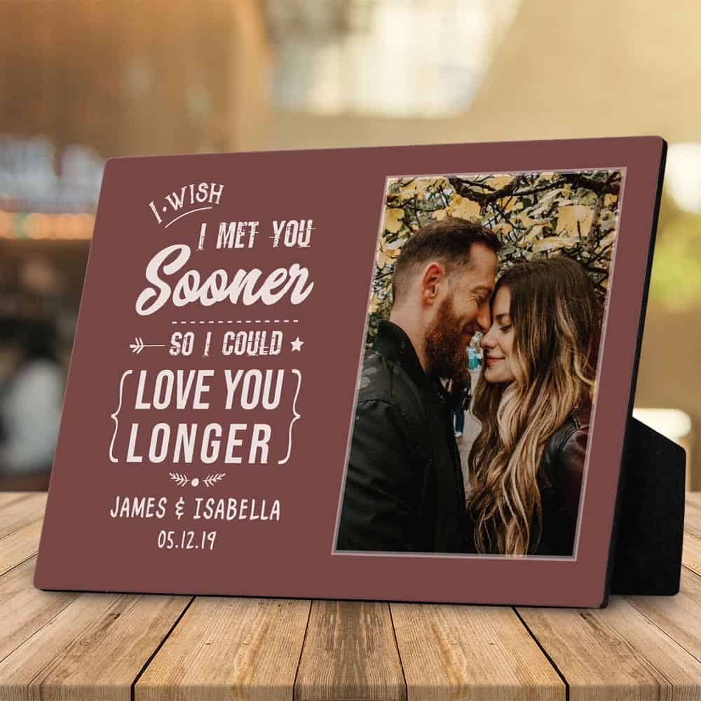 personalized valentine's day gifts for him: custom plaque