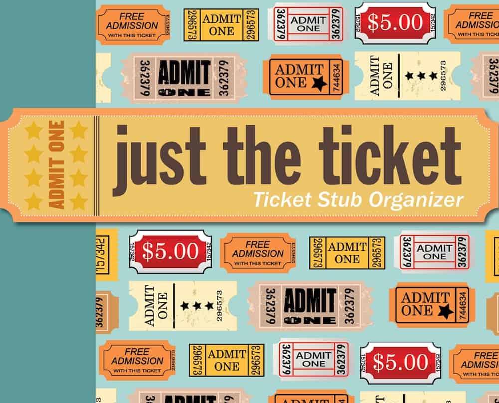 Just the Ticket- Ticket Stub Organizer Valentine's Day Gift For Him