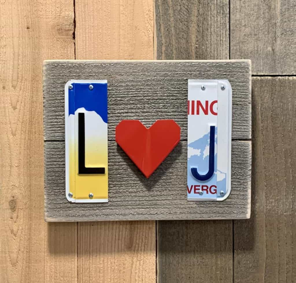 Long-Distance License Plate Sign - 1 year anniversary gift for boyfriend