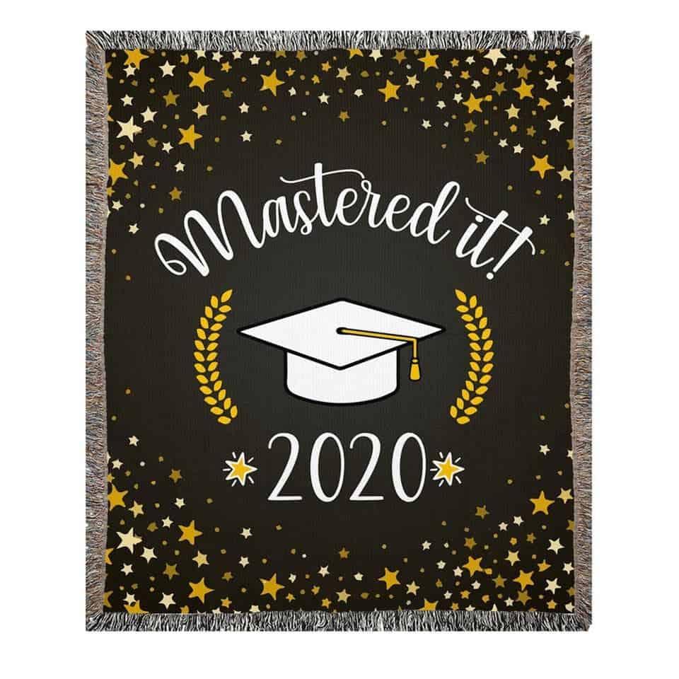 Master's Graduation Woven Blanket - girl's graduation gift ideas