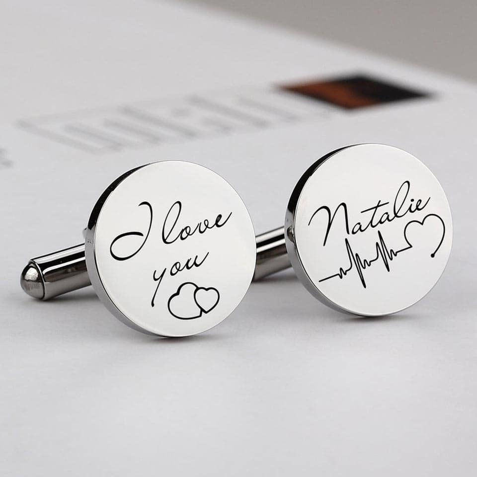 Personalized Cufflinks - romantic gifts for him