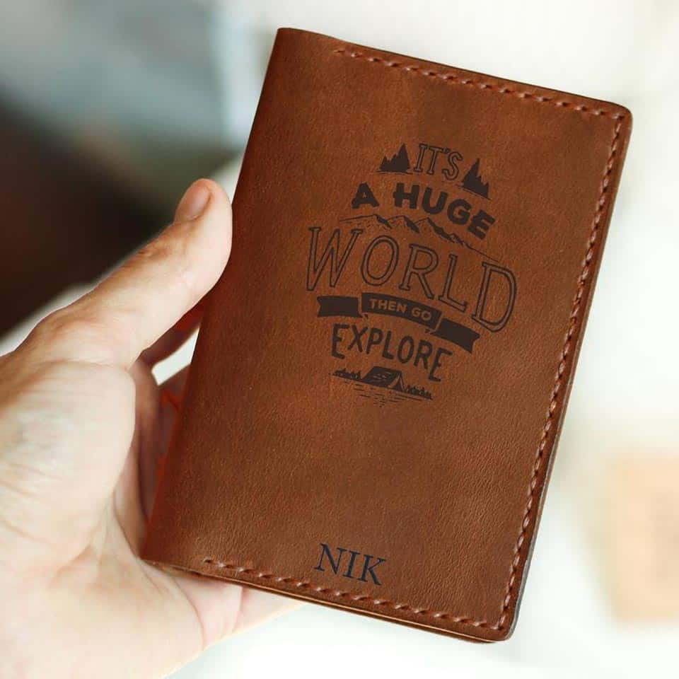 Personalized Passport Cover - girl's graduation gift ideas