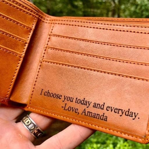 Personalized Wallet - non cheesy valentines day gifts for him