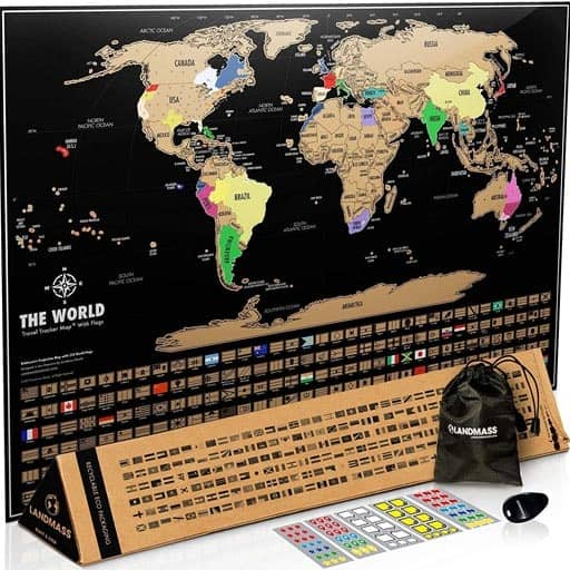 Scratch Off Map Of The World - inexpensive valentine gift