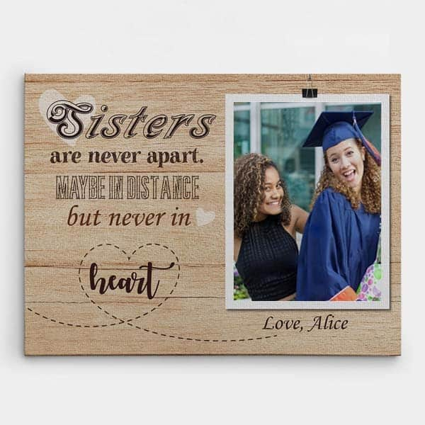 sisters are never apart canvas