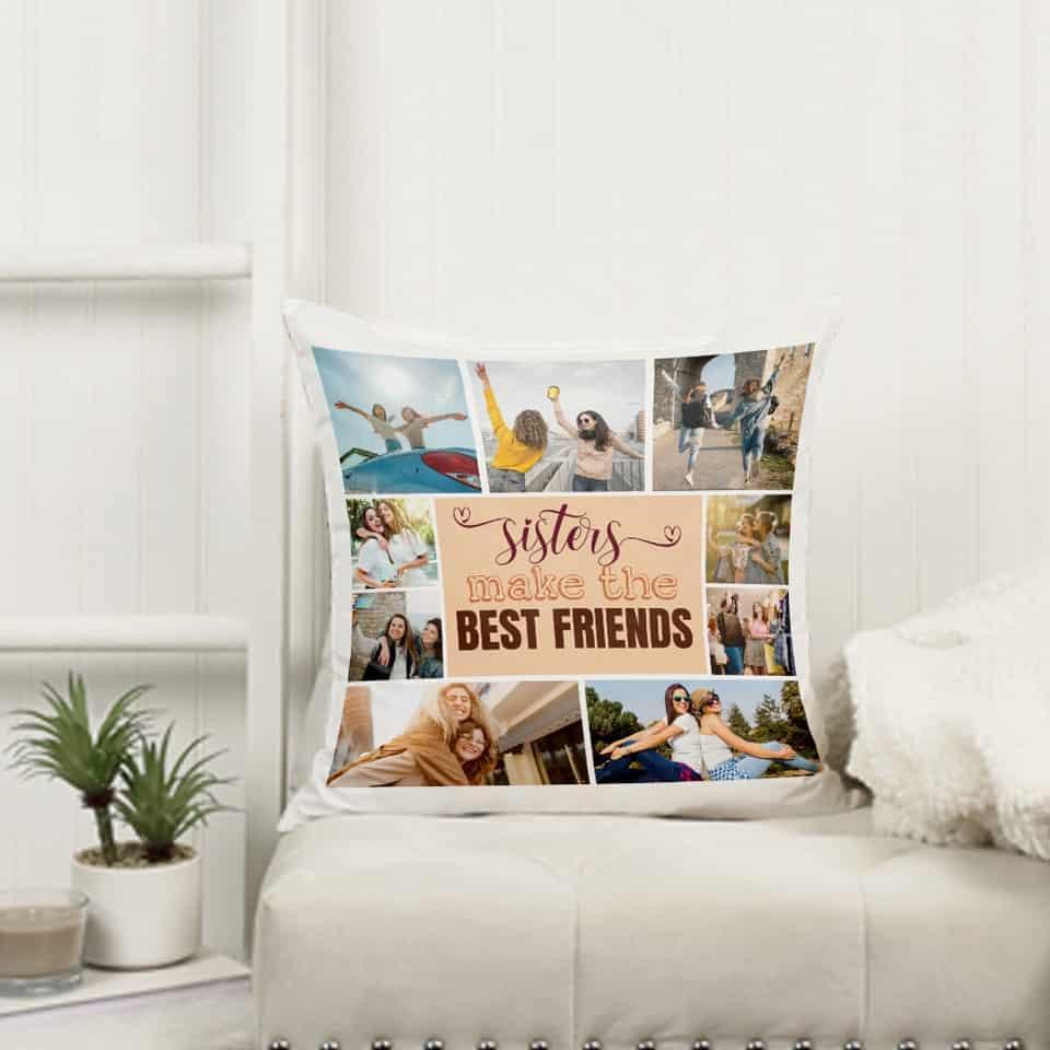 Sisters Make The Best Friends Pillow unique graduation gifts