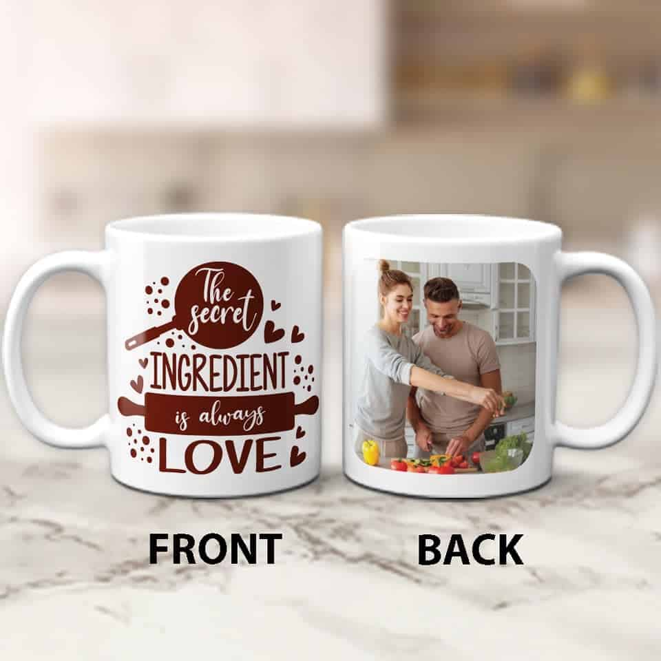 The Secret Ingredient is Always Love Mug: romantic gifts for him