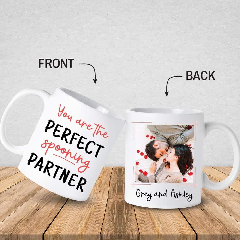 You're The Perfect Spooning Partner Custom Photo Mug