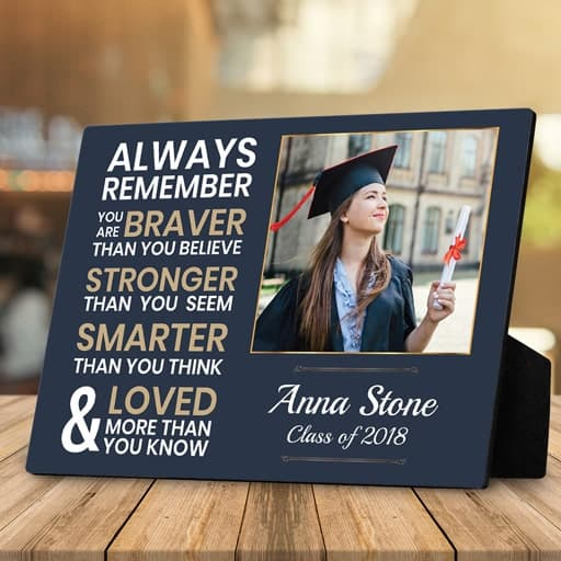 You Are Braver Than You Believe Plaque - gifts for high school graduates