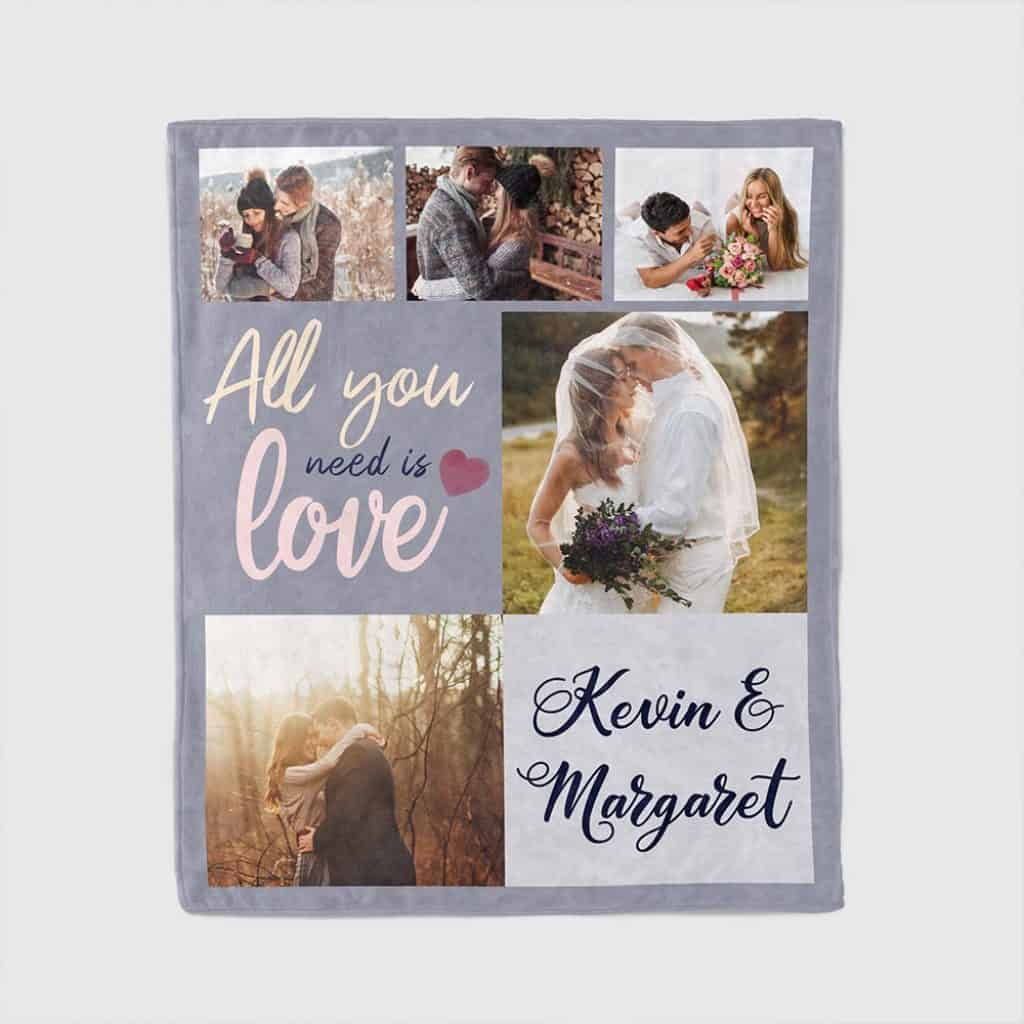 personalized valentines day gifts: custom photo blanket