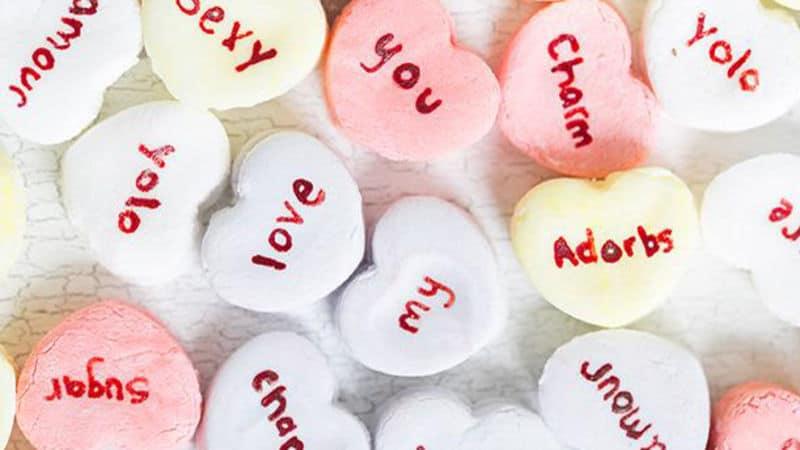 diy valentines gift ideas: diy conversation hearts
