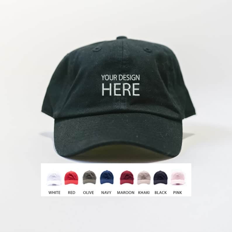 gifts for dad: custom dad hat