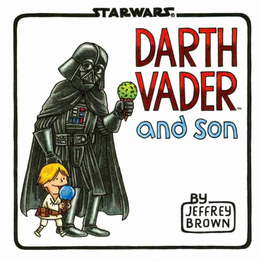 funny baby shower gifts for dad: darth vader and son book
