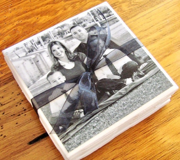 diy valentine's gifts for him: diy photo coasters