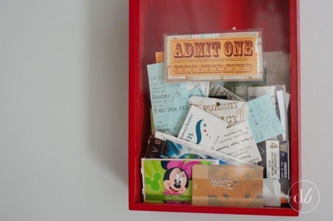 diy valentine's gifts for him: diy ticket stub box