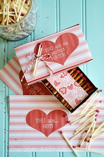 homemade valentines gifts for him: edible matches