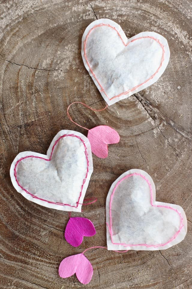 cute valentines day gifts for him: heart shaped tea bags